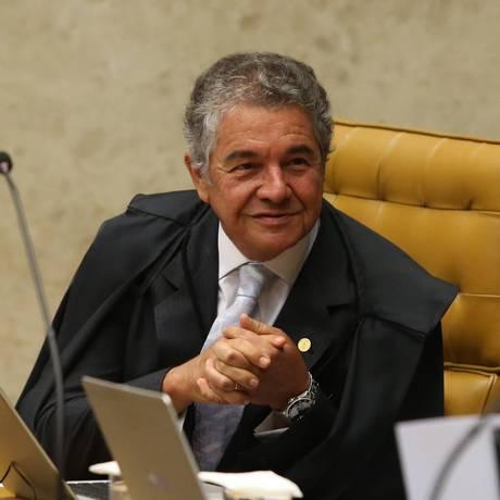 O ministro Marco Aurélio Mello, durante julgamento no STF Foto: Ailton de Freitas/Agência O Globo/02-05-2018