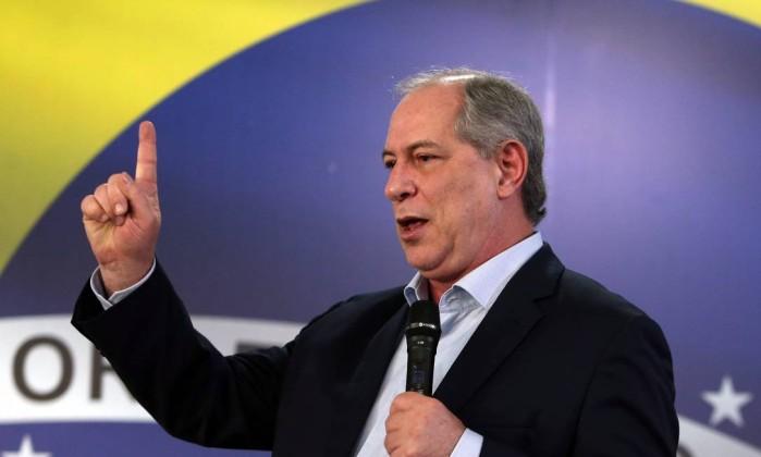 O candidato do PDT a presidente da República, Ciro Gomes Foto: Givaldo Barbosa / Agência O Globo