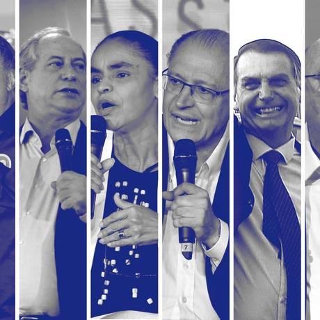 Candidatos à Presidência Foto: Editoria de Arte - O Globo