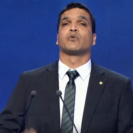 O candidato Cabo Daciolo, no debate Foto: Reprodução / Youtube
