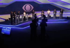 Primeiro debate de presidenciaveis realizado na TV Band Foto: Marcos Alves / Agência O Globo