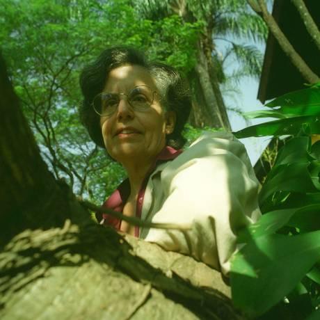 A escritora Zulmira Ribeiro Tavares em 1993 Foto: José Luís da Conceição / Agência O Globo