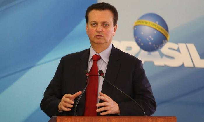 O ministro da Ciência, Gilberto Kassab, durante cerimônia no Palácio do Planalto Foto: Givaldo Barbosa/Agência O Globo/04-04-2018