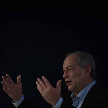 Candidato à Presidencia Ciro Gomes Foto: Daniel Marenco / Agência O Globo