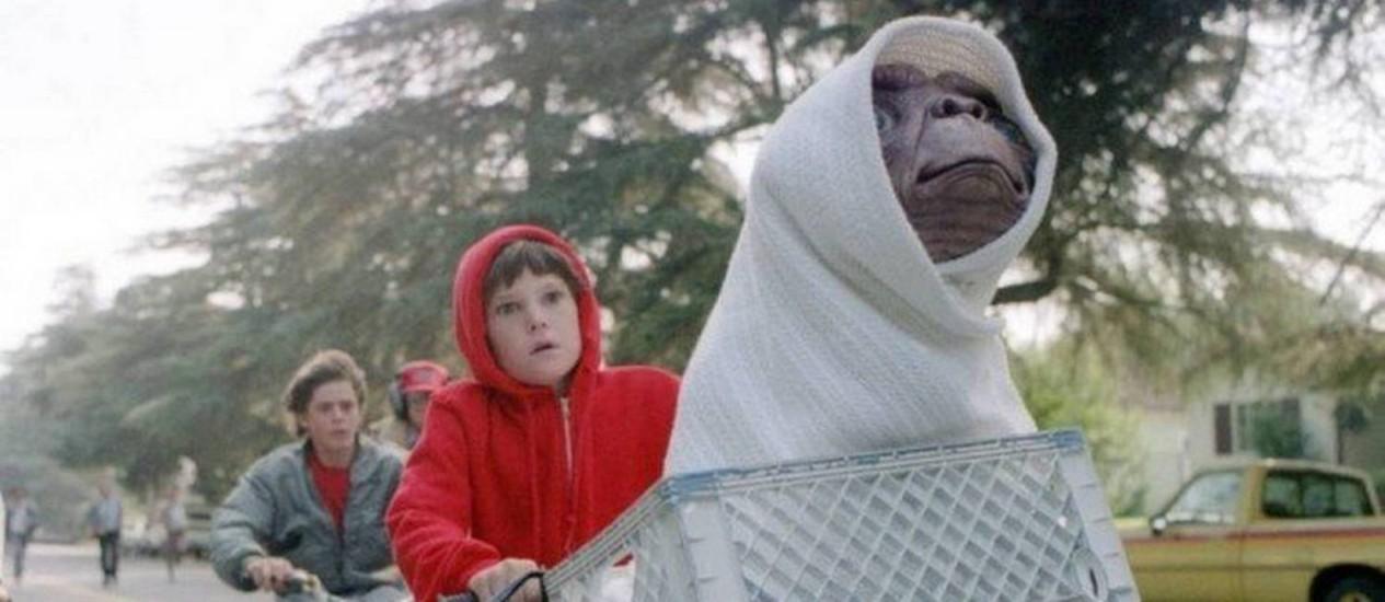 """""""E.T. - O Extraterrestre"""" (1982), de Steven Spielberg, é o campeão de estatuetas """"póstumas"""", segundo os críticos do GLOBO. Foto: Bruce McBroom / Divulgação"""