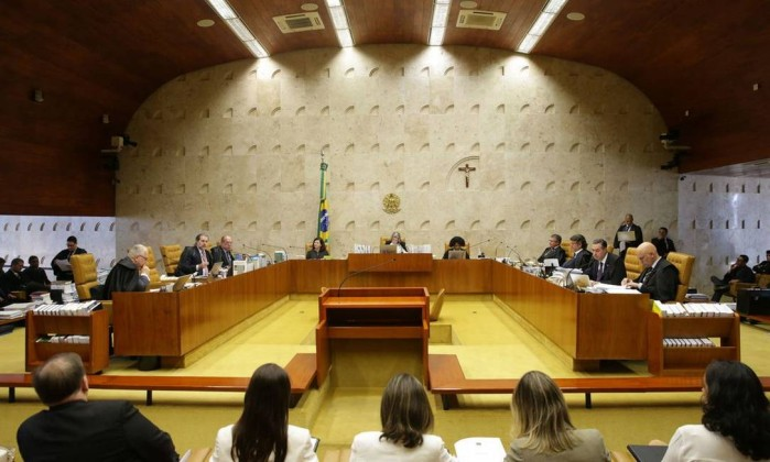 Sessão no STF Foto: Antonio Cruz / Agência Brasil