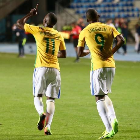 Vinicius Júnior e Lincoln são duas das esperanças para a geração atual do sub-20 Foto: Gregório Fernandes/CBF