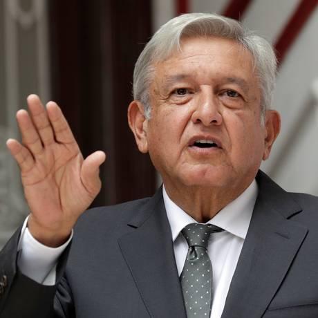 Presidente eleito do México, Andrés Manuel López Obrador, que tomará posse em 1º de dezembro Foto: HENRY ROMERO / REUTERS