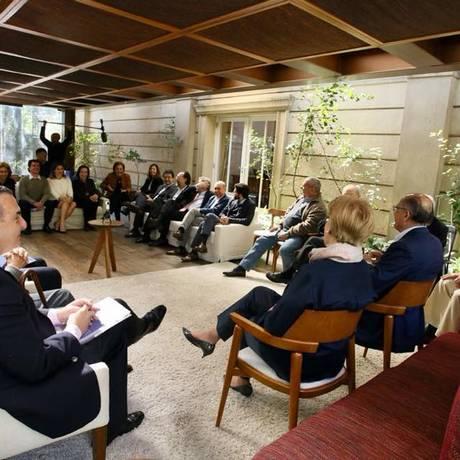 Geraldo Alckmin e Ana Amélia fazem reunião de campanha Foto: Reprodução/Facebook
