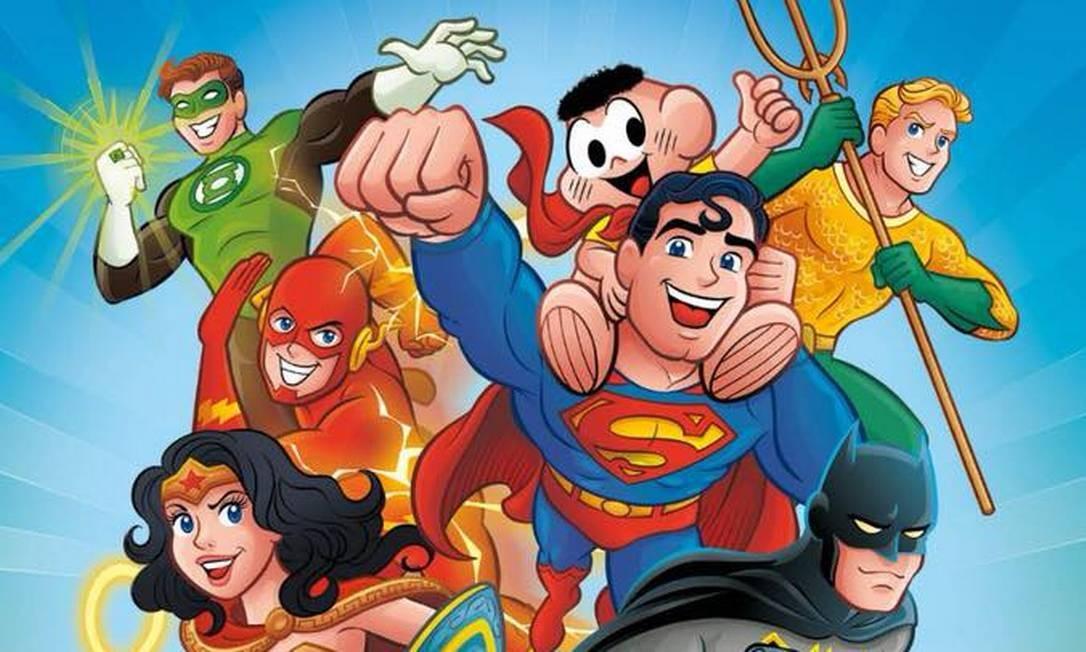 Turma da Mônica e Liga da Justiça vão se encontrar nos quadrinhos Foto: Divulgação