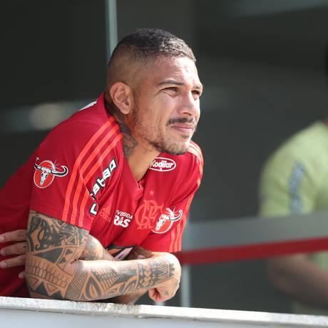 Guerrero em um de seus últimos treinos no Flamengo Foto: Gilvan de Souza