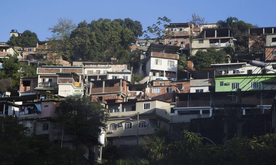 Morro do Cavalão. Na comunidade, onde houve operação policial esta semana, tiroteios frequentes afetam a população Foto: Emily Almeida / Emily almeida