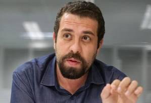 Graças a fundo eleitoral, Guilherme Boulos receberá mais que Luciana Genro teve em 2014 Foto: Marcio Alves / Agência O Globo