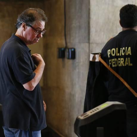 Luiz Carlos Velloso chega à Polícia Federal, em março de 2017 Foto: Pablo Jacob / Agência O Globo