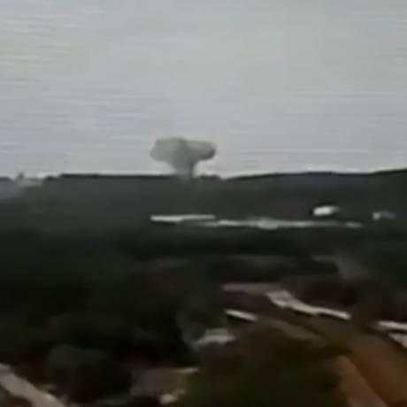 Explosão da Usiminas, em Ipatina, no interior de Minas Gerais Foto: Reprodução