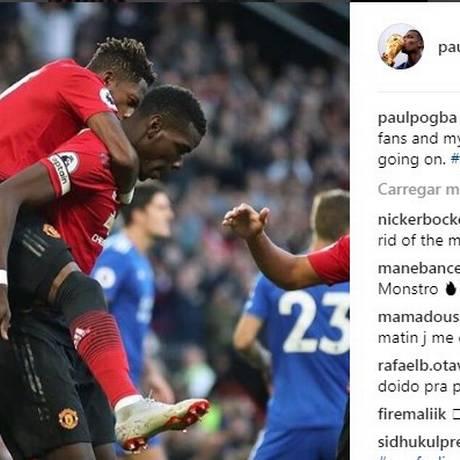 Pogba faz desabafo nas redes sociais após vitória Foto: Reprodução
