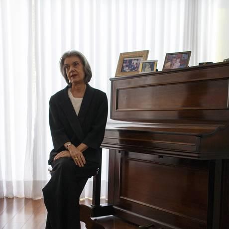 A ministra Cármen Lúcia, em entrevista exclusiva Foto: Daniel Marenco / Agência O Globo