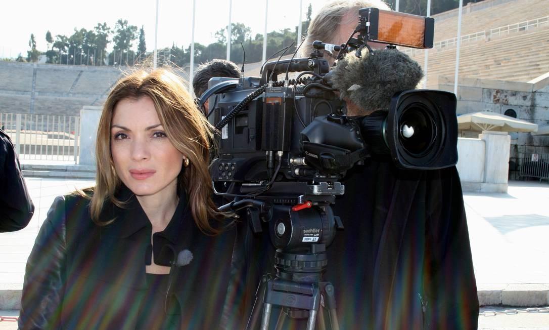 Alexandra Pascalidou acompanhou como jornalista a crise do Nobel de Literatura Foto: Mikael Hansson / Divulgação