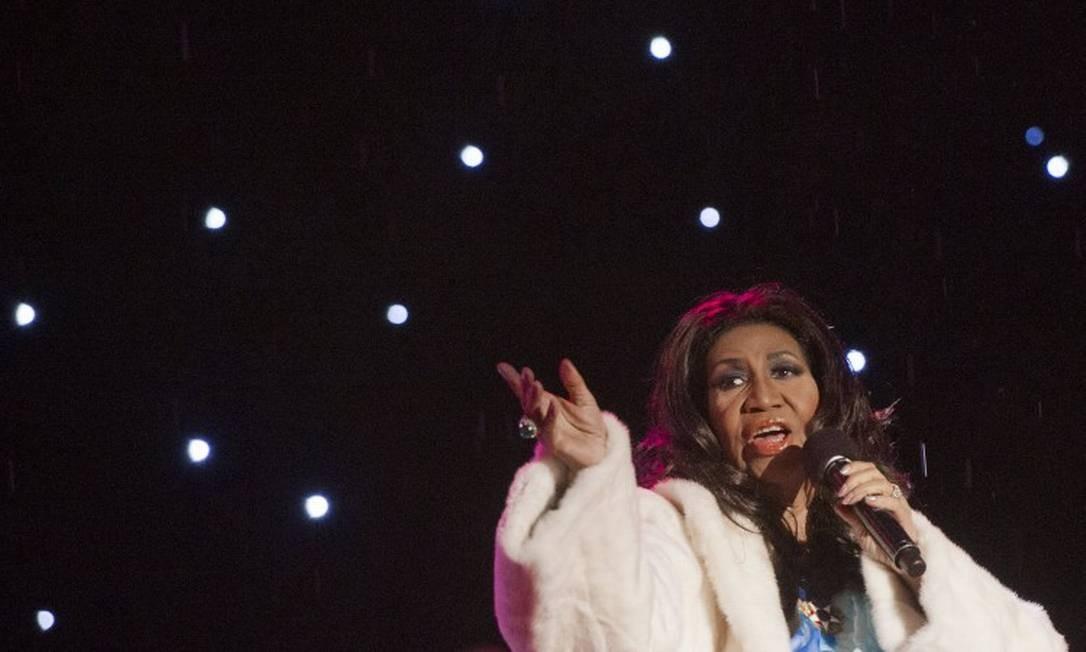 A cantora Aretha Franklin Foto: SAUL LOEB / AFP
