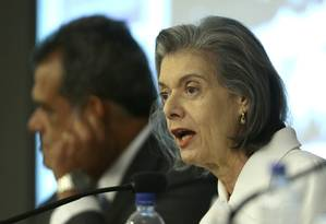 A presidente do STF, ministra Cármen Lúcia, durante evento em Brasília Foto: Jorge William / Agência O Globo
