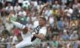 Cristiano Ronaldo marcou seu primeiro gol pela Juventus em amistoso entre os times A e B Foto: ISABELLA BONOTTO / AFP