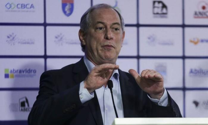 O pré-candidato Ciro Gomes Foto: José Cruz / Agência Brasil