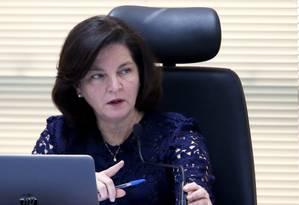 A procuradora-geral da República, Raquel Dodge, participa da reunião do Conselho Superior do Ministério Público Foto: Givaldo Barbosa/Agência O Globo/10-08-2018