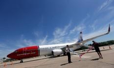 Avião da Norwegian Air é apresentado em aeroporto da Argentina Foto: Marcos Brindicci/Reuters/08-03-2018