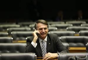 O deputado Jair Bolsonaro (PSL-RJ) no plenário da Câmara dos Deputados Foto: Ailton de Freitas / Agência O Globo