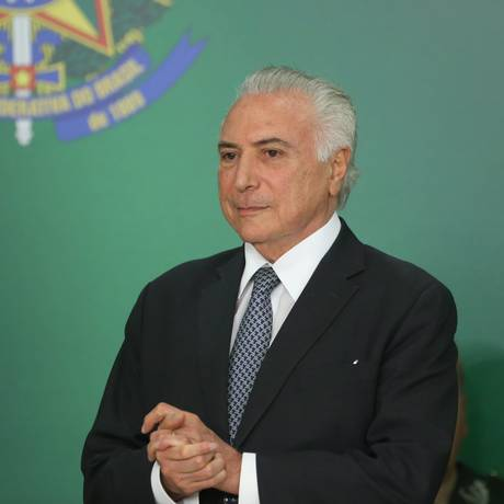 O presidente Michel Temer participa de cerimônia no Palácio do Planalto Foto: Ailton de Freitas/Agência O Globo/09-08-2018