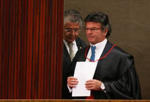 O ministro Luiz Fux, durante sessão do TSE Foto: Ailton de Freitas / Agência O Globo