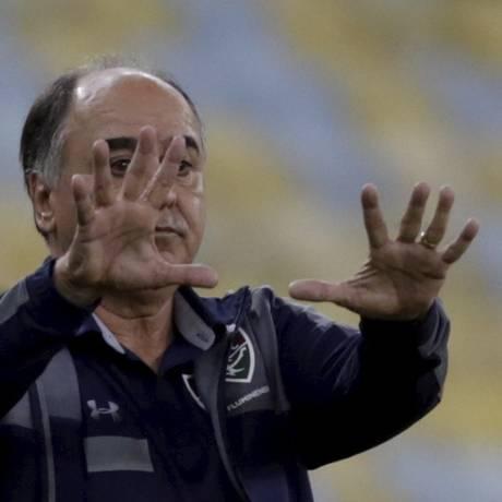 O técnico do Fluminense, Marcelo Oliveira Foto: Marcelo Theobald / Agência O Globo
