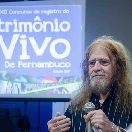 José Pimentel ganhou o título de Patrimônio Vivo de Pernambuco em 2017 Foto: Divulgação/Fundarpe