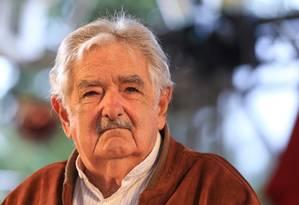 José Mujica em São Paulo no ano passado: renúncia ao Senado uruguaio Foto: Parceiro / Agência O Globo