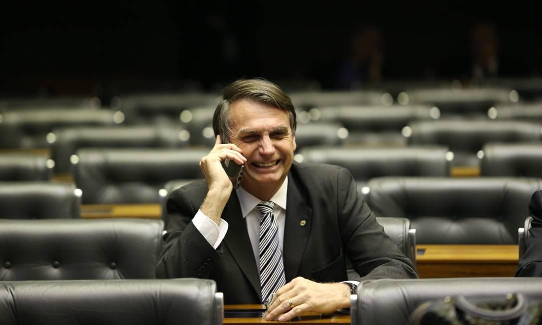 O deputado e candidato à Presidência, Jair Bolsonaro (PSL-RJ) Foto: Ailton de Freitas / Agência O Globo 13/08/2018