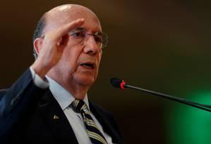 Henrique Meirelles participa de evento com presidenciáveis em Brasília Foto: Adriano Machado / Reuters
