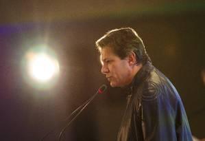 Fernando Haddad participa de evento com presidenciáveis em Brasília Foto: Daniel Marenco/Agência O Globo