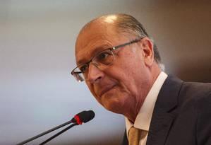Geraldo Alckmin participa de evento com presidenciáveis em Brasília Foto: Daniel Marenco / Agência O Globo