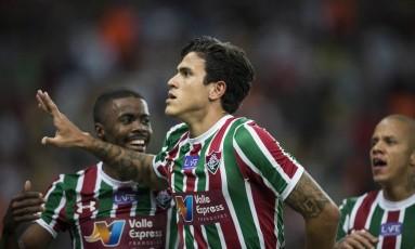 Pedro tem 10 gols pelo Fluminense no Brasileiro Foto: Guito Moreto/5-8-2018 / Agência O Globo