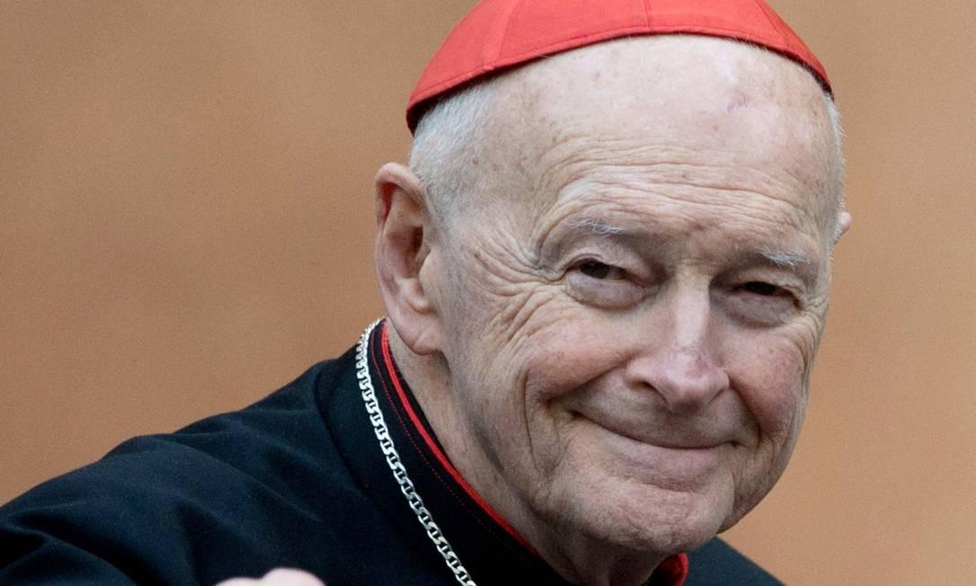 O cardeal Theodore Edgar McCarrick é um dos acusados pelo Grand Júri da Pensilvânia de abusar sexualmente de crianças Foto: JOHANNES EISELE / AFP/11-03-2013