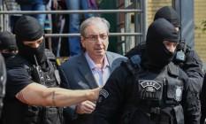 O ex-presidente da Câmara está preso desde outubro de 2016 em Curitiba Foto: Geraldo Bubniak / Agência O Globo (20/10/2016)