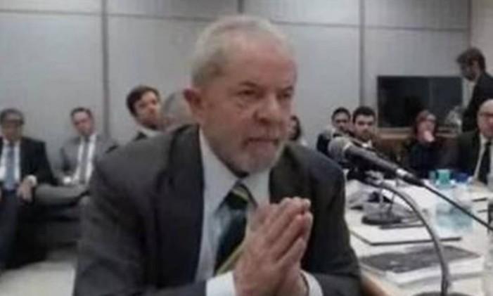 Lula foi interrogado pelo juiz Sergio Moro no caso do tríplex do Guarujá em maio de 2017 Foto: Reprodução