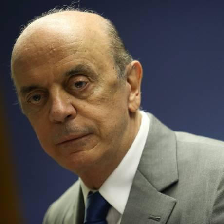 José Serra, em foto de arquivo Foto: André Coelho / Agência O Globo/09-11-2016