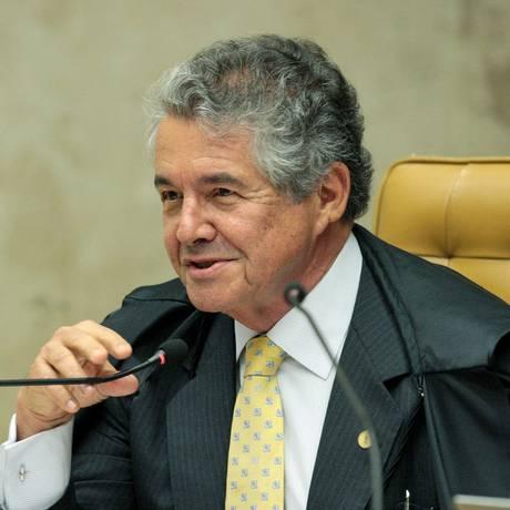 O ministro Marco Aurélio Mello, durante sessão do STF Foto: Carlos Moura/STF/09-08-2018