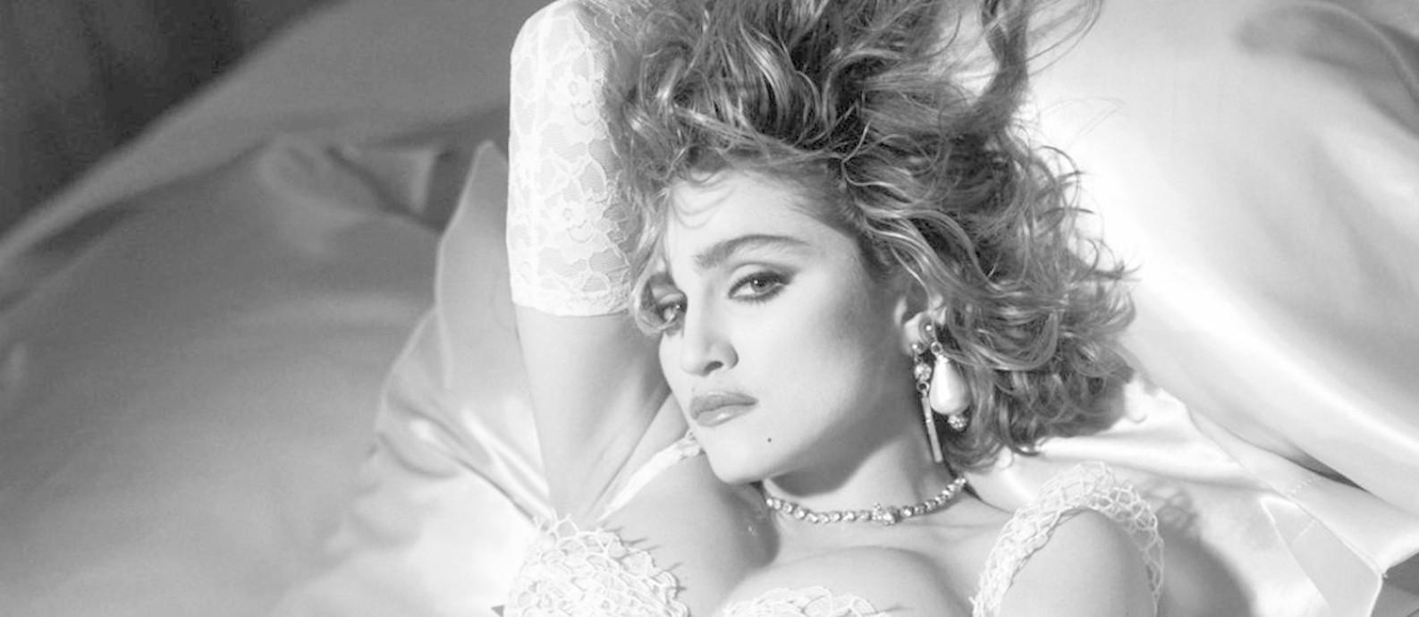 Madonna na fase 'Like a virgin' Foto: Divulgação