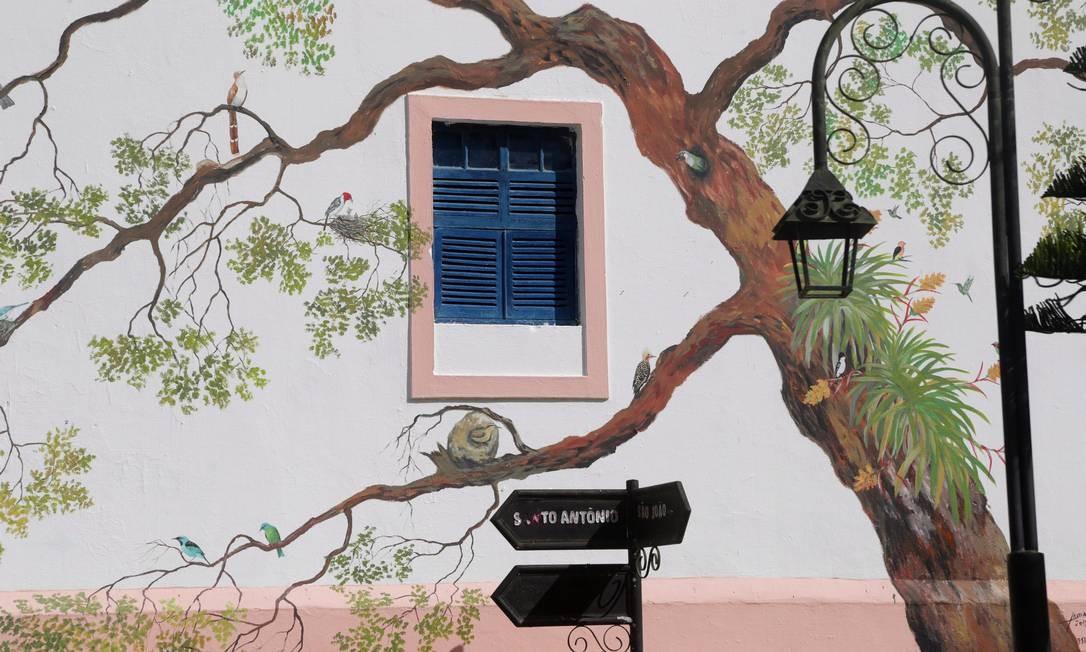 Frio. Pintura em casa em Guaramiranga: volta no tempo Foto: Márcio Alves / Agência O Globo