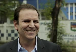 Primeiro dia da campanha de Eduardo Paes, candidato do DEM ao governo Foto: Gabriel de Paiva / Agência O Globo