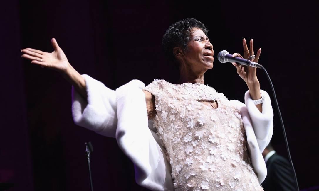 Aretha Franklin morreu aos 76 anos Foto: DIMITRIOS KAMBOURIS / AFP