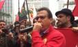 Luiz Marinho começa campanha ao governo de São Paulo no Centro da capital Foto: Elisa Martins