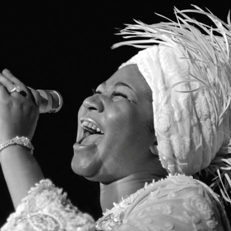 Aretha em apresentação em Las Vegas, em 1969 Foto: HANDOUT / REUTERS
